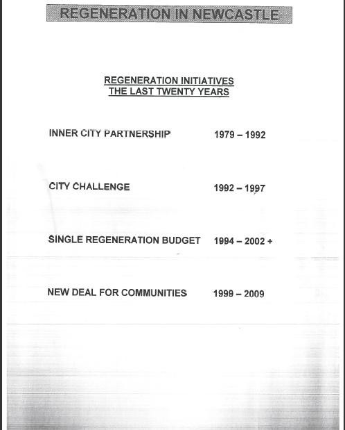 Single regeneration budget challenge fund