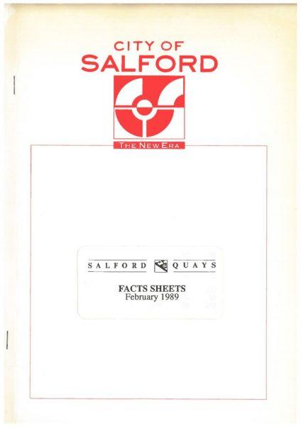 thumbnail of City of Salford Facts Sheets 1989