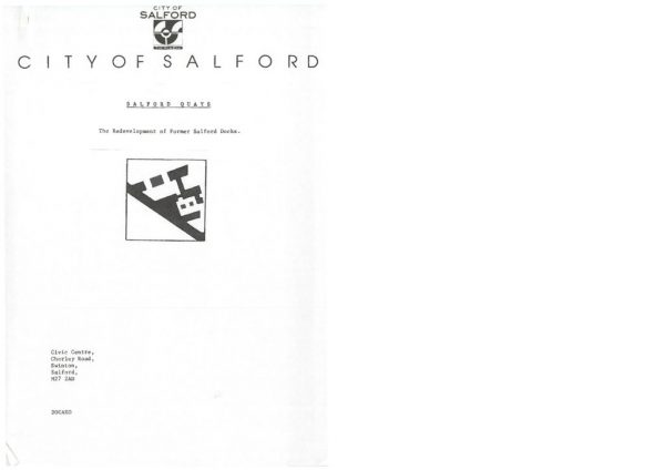 thumbnail of Salford Docks development strategy 1988
