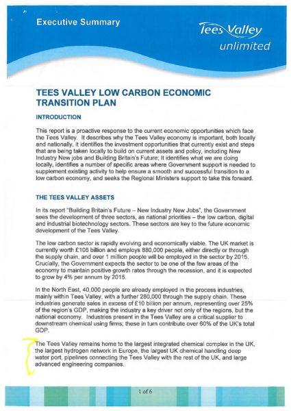thumbnail of TVU Low Carbon Economic Transition Plan