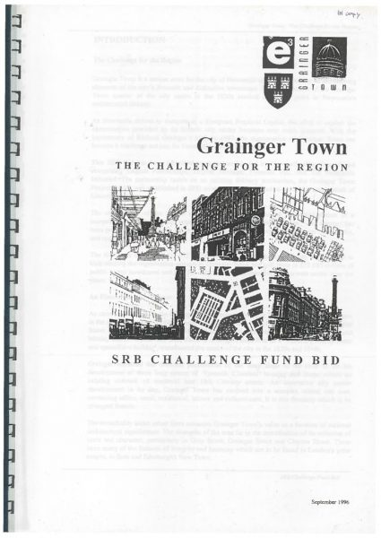 thumbnail of Grainger Town SRB Challenge Fund Bid 1996